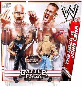 Mattel WWE Wrestling 15 Action Figure 2 Pack John Cena The Rock