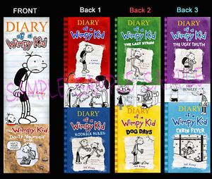 3 Diary of A Wimpy Kid Bookmark Dog Days Book Marker Cabin Fever The Ugly Truth