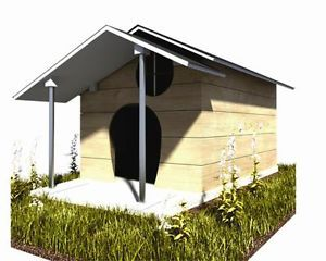 "30"" x 36"" Dog House Plans Gable Roof Pet Size Up to 60 lbs Small Dog 06"