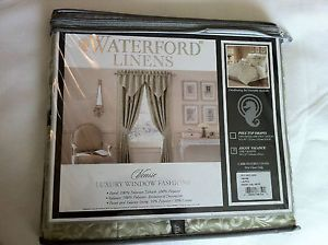 Waterford Linens Venise Luxury Window Ascot Valance NIP