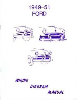 1949 1950 1951 Ford Wiring Diagrams Schematics