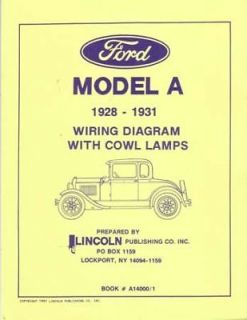 1928 1929 1930 1931 Ford Model A Electrical Wiring Diagrams Schematics Book