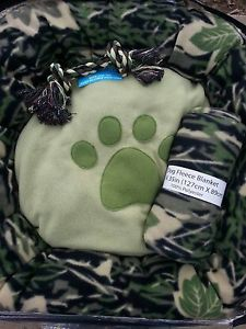 """Camouflage """" Dream Duck Dynasty """" Hunting Camo Army Dog Bed Blanket Rope Toy"""