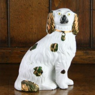 Staffordshire Pottery Vintage Spaniel Wally Dog Figure