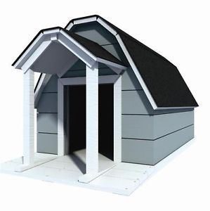 "39"" x 64"" Dog House Plans Gambrel Roof Pet Size to 150 lbs Large Dog 09"