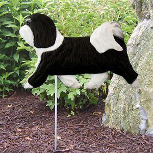 Havanese Dog Figure Garden Stake Home Yard Garden Dog Breed Products Gifts