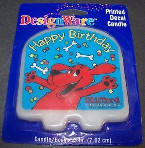 Clifford The Big Red Dog Birthday Party Candle Cake Topper Supplies Decoration