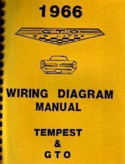 1966 Pontiac LeMans GTO Tempest Electrical Wiring Diagrams Schematics Book