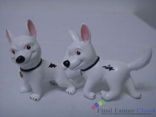 7pcs Set of Disney Bolt Dog Movie Action Figures Penny Rhino Mittens 5 5cm 7 5cm