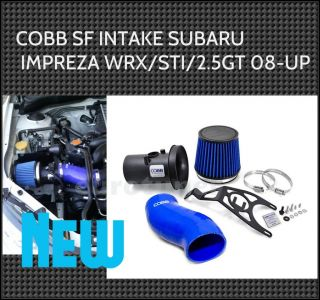 08 13 Subaru WRX STI 2 5GT Cobb Tuning Short RAM SF Intake System Blue
