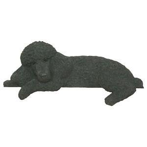 Poodle Black Collectible Dog Figurine Door Topper Gift