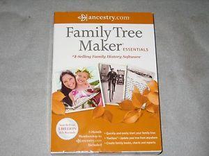 Family Tree Maker Essentials 2012 Ancestry com Software Retail Box New