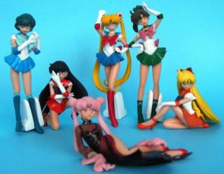 Japanese Anime Sailor Moon Sexy Girls Figures Lot of 6pc Figure Toy Doll