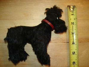 Adorable Vintage 1950s 1960s Steiff Black Snobby Poodle Dog Jointed Toy
