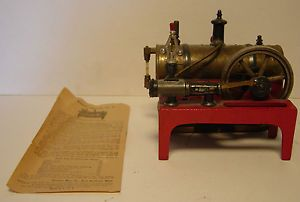 Weeden No 14 Toy Steam Engine Original Instructions Cast Iron Base Brass Boiler