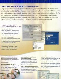Family Tree Maker 11 Collector's Edition PC CD Genealogy Research Tool on 20 CDs