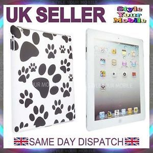 For Apple iPad 2 Stylish Dog Paw Foot Print Animal Foot Print Hard Case Cover