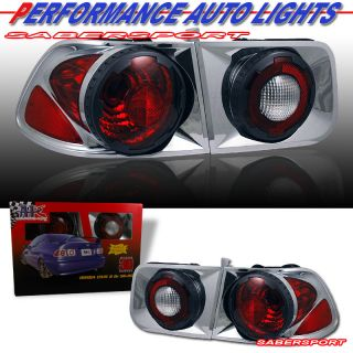 "96 97 98 99 00 Honda Civic 2dr Coupe Retro 3D Tail Lights 4pcs Chrome ""in Stock"""