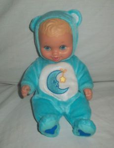 Lauer Toys Doll Baby Rubber Water Filled Care Bears Clothing Blue Bedtime Bear