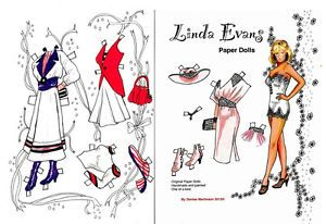 Linda Evans Original Hand Drawn Art Paper Dolls