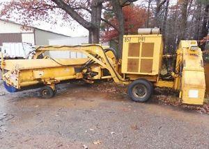 20' Runway Broom Sweeper Tows Behind Plow Truck MB Airport 3306 Cat Engine 1991