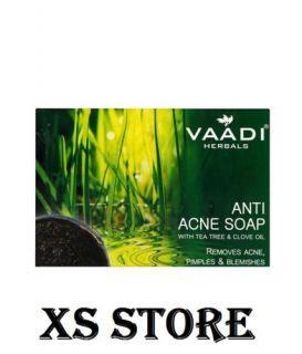 Vaadi Herba Anti Acne Smooth Clear Skin Soap Clove Tea Tree Oil 75gm Size