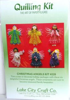 Quilling Kit Angels Makes 6 The Art of Paper Filigree