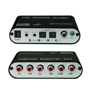5 1 Ac3 DTS HD Audio Decoder Digital Sound Decoder Optical SPDIF Coaxial to 6RCA