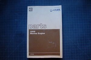 Cat Caterpillar 3208 Marine Engine Parts Manual Book 1988 Catalog Boat Motor