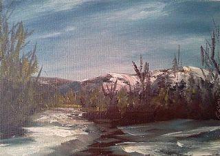 Vanlandingham Original Daily Fine Art Oil Painting Landscape EBSQ Snow