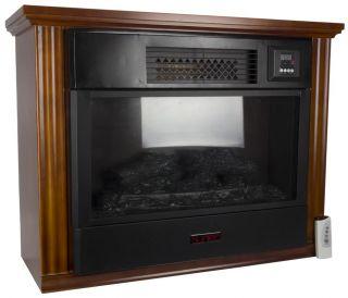 Suntec FPR3000 Portable 1200 sqft Infrared Quartz Fireplace Space Heater 1500W