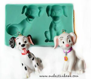 Silicone Mould 102 Dalmatians Dogs Cake Decoration Fondant Fimo Mold Food