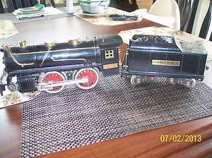 Original Pre War Lionel Standard Gauge 384E Engine 384T Tender Runs