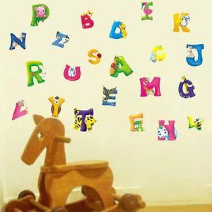 Kid's Boys Girls Babies Alphabet Nursery Room Children Wall Stickers Art Paper