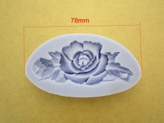 Rose Flower 1 Cavities Silicone Mold Mould for Polymer Clay Fimo Craft Resin