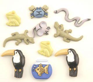 Pet Button Theme Pack Exotic Pets Fish Birds Mice