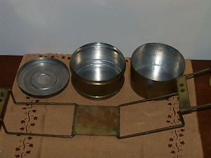 WWII Field Gear Food Transport Container Tin Original Brass Mess Kit German