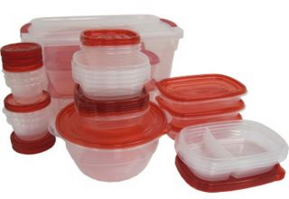 New Rubbermaid Takealongs 62 Piece Clear Plastic Food Storage Containers Set