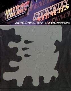 Auto Air Colors Splatz Airbrush Stencil Template Paint