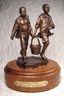 Bronze Sculpture Figurine Robert Summers Freedom's Journey Life's Outreach Int'L