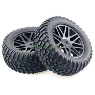 "4pcs RC 1 10 Model Pull Rally Car Off Road 2 2"" Wheels Rim Tires Tyre 608B 7007"