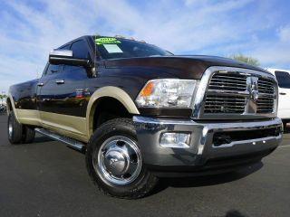 2011 Dodge RAM Laramie 3500 HD Crew Cab Dually Cummins Diesel 4x4 Truck Like New
