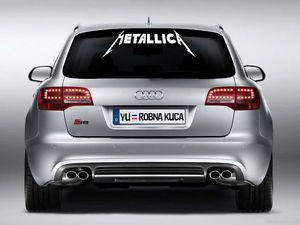 Fun Aufkleber Metallica Auto Decal Car Sticker 75 0 cm x 25 0 Cm