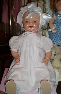 """Beautiful 1930's American Character Petite Composition Doll Huge 26"""" Excellent"""