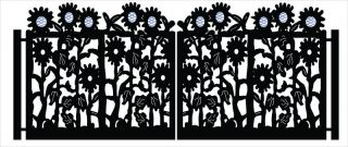 Sunflower Driveway Gate Metal Art Steel Ranch Farm Garden Wrought Iron 13 x 6
