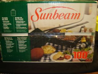 Sunbeam Patio Master Portable Outdoor Charcoal Grill Made In Usa Red