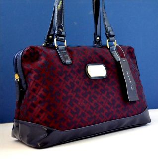 Tommy Hilfiger Genuine Authentic Maroon Red Handbag Bag Purse Satchel