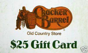 Cracker Barrel Gift Card Collectible No Value
