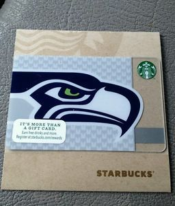 Starbucks Seattle Seahawks NFL Gift Card Limited Edition