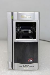 Nikon Super Coolscan 4000 Ed Film Slide Scanner SA 30 Feeder LS 4000 Ed Used